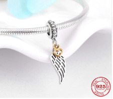 Love & Guidance Dangle Charm Angel Wing Pendant Sterling Silver 925 791389