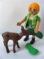 Playmobil Bosque/Safari/vida salvaje Dama Ranger Figura & Baby Deer Nuevo