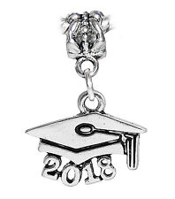 2018 Graduate Cap Hat Graduation Gift Dangle Charm for European Bead Bracelets