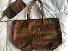 TUMI Luggage Nylon Tote With Clutch Zipper LARGE Rust VGUC