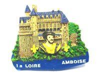 Candado Amboise Imán Recuerdo Poly Francia Loire, Nuevo