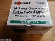 "8612PG 5000 1/2"" CR STAPLES 16G FITS PASLODE GS S200-S16 DECKING STAPLES"