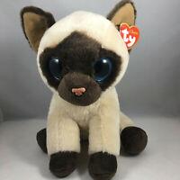 "Ty Classic 9"" Medium JADEN Siamese Cat Stuffed Animal Plush Toy MWMTs Retired"