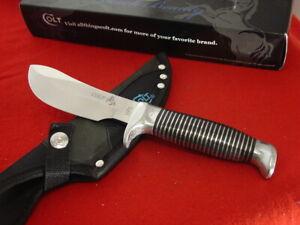 "Colt Knives 9-5/8"" Black Beauty CT468 Fixed Blade Sheath Knife MINT"