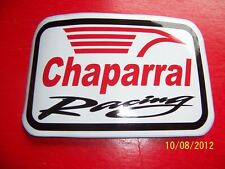 """4"""" X 6"""" (NEW Vinyl)  Chaparral Racing (Red, Black and White Vinyl STICKER)"""