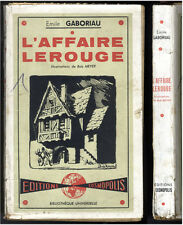 EMILE GABORIAU  L'AFFAIRE LEROUGE  EDITIONS COSMOPOLIS