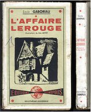 EMILE GABORIAU  L'AFFAIRE LEROUGE  EDITIONS COSMOPOLIS