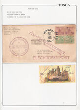 Tonga :Inward Cover Usa to Tonga w/ amazing picture,sent from Chicago 1934.TG021