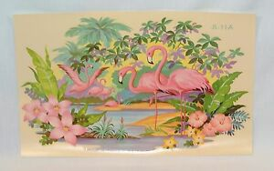 Vintage Pink FLAMINGO Large 13 inch DECAL Liberty Company Free US Shipping!