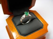 A Beautiful 1.30ct Colombian Emerald Oval Solitaire Ring