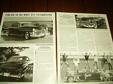 1950 Chrysler New Yorker Grease Broadway Show Car *Original 1992 Article*
