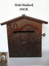 alter Brieffkasten 1930 Jh. Holz Tiroler Handwerk Auerhahn Jäger Postkasten