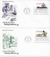US Scott #1717-20, First Day Covers 7/4/77 Cincinnati Singles Independence