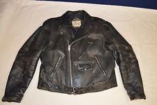 vintage leather biker jacket Bermans size 46 black