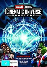 MARVEL STUDIOS COLLECTOR'S EDITION BOX SET PHASE 1 : 6 Movies NEW Au Rg4 DVD