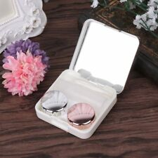Two Piece Contact Lens Applicator Eyewear Vision Case Mirrow Lenses Container