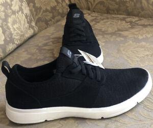 Skechers Moogen Holder Black/ White Casual Sneakers Men Sz 8.5