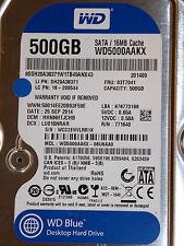 Western Digital WD5000AAKX-08U6AA0 DCM: HHNNHTJCHB | 25 SEP 2014 | WCC2E | 500GB
