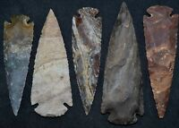 """*** 4"""" Flint Spearhead Arrowhead OH Collection Project Points Knife Blade ***"""