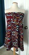LulaRoe Azure Textured Skirt, Multi-Color, XL, NWT