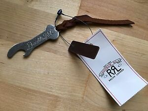 RRL MELROSE  Metal and Leather Custom Bottle Opener Keyfob NWT Ralph Lauren Polo