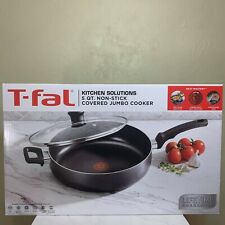T-FAL THERMOSPOT 5QT NON-STICK COVERED JUMBO FRYING PAN/COOKER PREMIUM COOKWARE