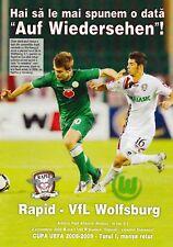 Programma | 2008-2009 | Rapid Bucharest V VfL Wolfsburg | UEFA CUP