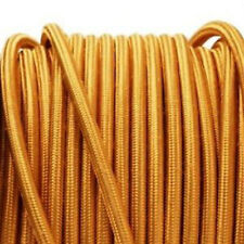 GOLD vintage style textile fabric electrical cord cloth cool cable