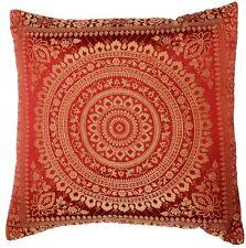 "Mandala Indio Mosaico Sari étnico Seda Banarsi Cushion Covers Mandala 16""x16"""