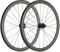 Carbon Cyclocross Wheels 700C 40mm Carbon Wheelset With Disc Brake Thru Axle/QR