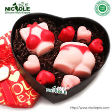 2pcs Sex Chocolate Candy Jelly Pudding Mold Valentine's Day Mold Soap Craft Mold