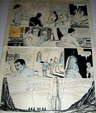OSCAR CAROVINI ORIGINAL ART PAGE SCI-FI HORROR COMIC THE EVIL PLANET ARGENTINA69