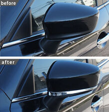 Chrome Door Side Mirror Cover Trim Garnish Protector Overlay For 14-16 Mazda 3