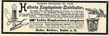 Gebr. Cellar Hall A. S. halloria Ball Joint Light Holder Empire Patent 1901