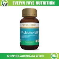 HERBS OF GOLD Probiotic + SB - 60 Capsules | Saccharomyces boulardii