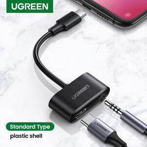 UGREEN USB C zu 3,5mm Kopfhörer Buchse Adapter 2in1 Audio Ladegerät Splitter Aux