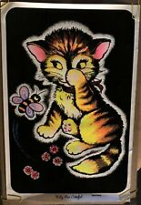 Kitty Bee Careful Original Vintage Black Light Poster Pin-up 1973 Headship Pinup