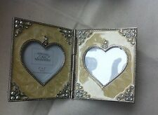 Pearl Effect Double Photo Frame