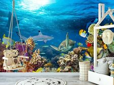 Underwater Coral Reef Wallpaper Mural Photo WALL DECOR Giant Paper Poster Fishes