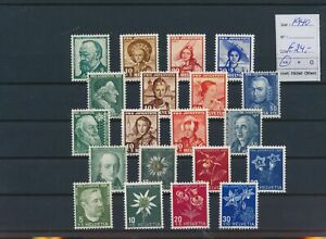 LO39420 Switzerland 1940 pro juventute fine lot MNH cv 24 EUR