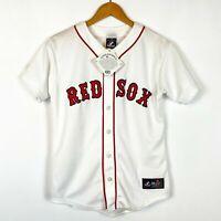 Majestic MLB Boston RED SOX Baseball Jersey Youth Size Large