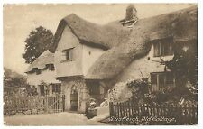 Devon, Lustleigh, Old Cottage PPC By Frith, RTPO Main Trunk, Auckland Cancel