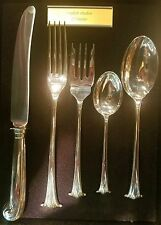 C J Vander ENGLISH ONSLOW 5 piece sterling silver dinner setting