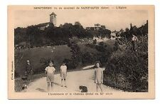 38 - cpa - DEMPTEZIEU - L'aumônerie et le château  (C5992)