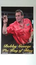 More details for bobby george darts legend hand signed autograph photo,11.5 x 8