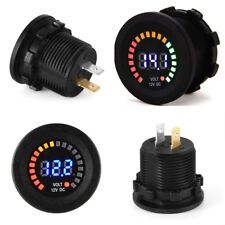 DC 12V Universal Car Motorcycle LED Digital Display Voltmeter Socket  Waterproof
