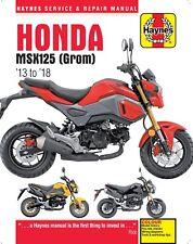 2013-2018 Honda Grom MSX 125 HAYNES SERVICE & REPAIR MANUAL 6246