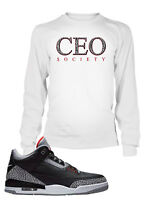 CEO Tee Shirt To match Jordan 3 Cement Shoe Men Graphic T Sizes Small to 10XL