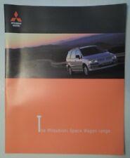 MITSUBISHI SPACE WAGON orig 1999 UK Mkt Large Format Sales Brochure