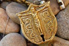 Jesus Vintage Brass Padlock Carved Antique rustic working lock key love lock